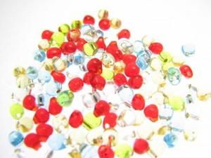 ドロップビーズ5色mix透明